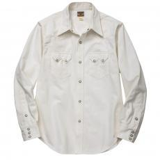 JM WHITE DENIM WESTERN SHIRT