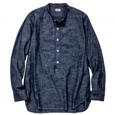 D/D BAND COLLAR PULL OVER CHAMBRAY SHIRT