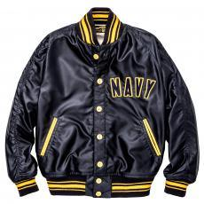 MILITARY ATHLETIC JACKET / NAVY