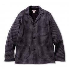 DOUBLE DIAMOND DOBBY STRIPE CHORE JACKET