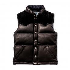 DOWN VEST / DEERSKIN (BLACK)