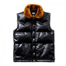 MOUTON COLLAR HORSEHIDE DOWN VEST