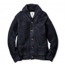SHAWL COLLAR COTTON CARDIGAN