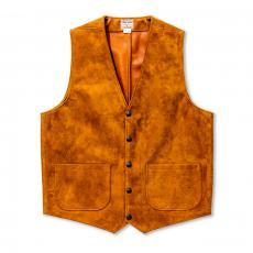 ROUGHOUT LEATHER VEST