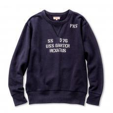 MILITARY PRINT SWEATSHIRT / USS DARTER