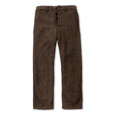 DOUBLE DIAMOND NEP WOOL TROUSERS