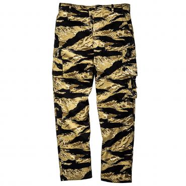 TIGER CAMOUFLAGE TROUSERS / GOLD TONE