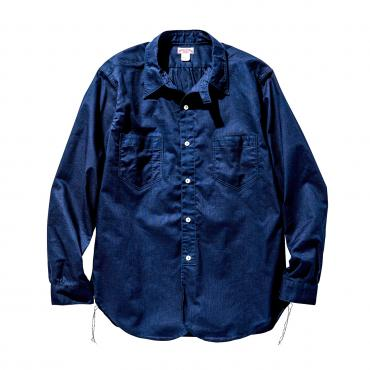 DOUBLE DIAMOND INDIGO DYE WORK SHIRT