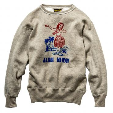 MILITARY PRINT SWEATSHIRT / ALOHA HAWAII